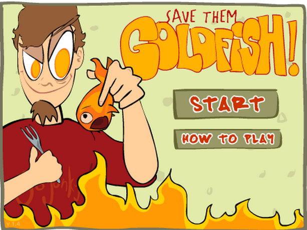 Интересная игра: Спасти рыбку от сковородки