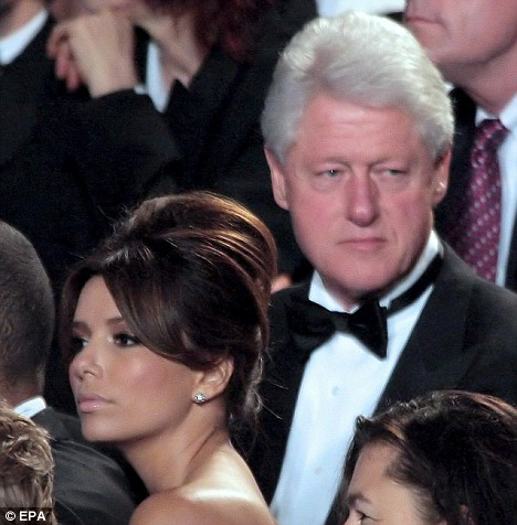 Ева Лонгория + Билл Клинтон