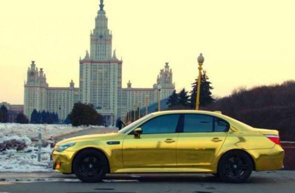 Золотая БМВ