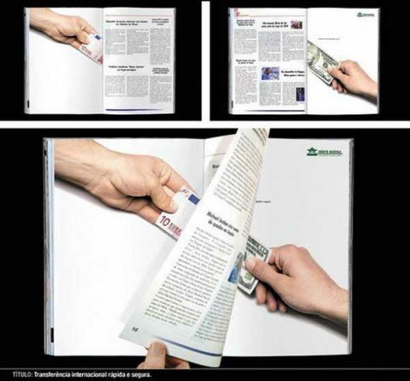 Фото дизайнера креативной рекламы. Пресса это универсальная валюта