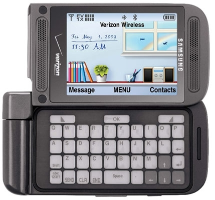 Samsung установил в мобильный телефон клавиатуру из электронной бумаги