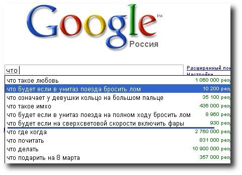 Самые необычные запросы к Гугл
