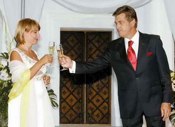 Ющенко с женой