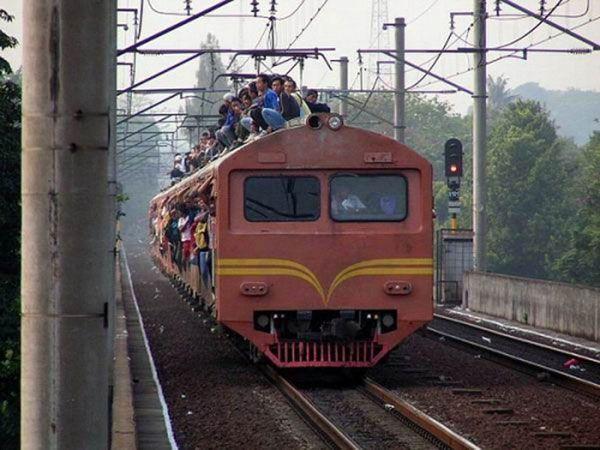 Экстремалы на поезде