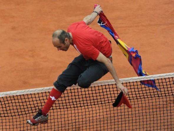 Роджер Фэдэрер нападение фаната