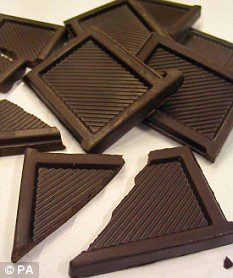 низкокалорийный шоколад