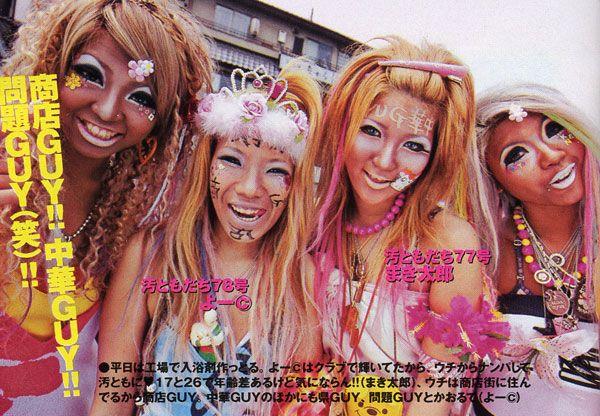 Новое модное движение Ganguro