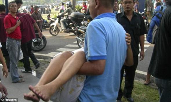 Взрыв в Индонезии