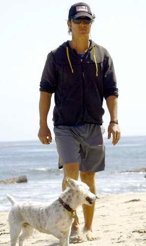 Мэттью Макконахи со своим псом