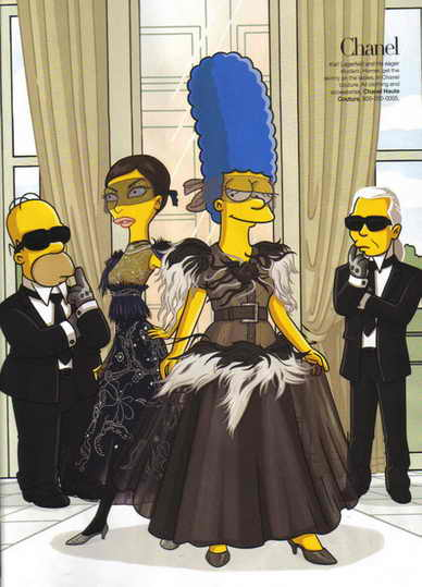 Модные Симпсоны в Париже