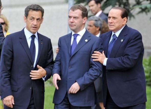 Саммит G8. саркози и берлускони блокируют медведева