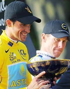 "На ""Тур де Франс"" победил испанец Альберто Контадор"