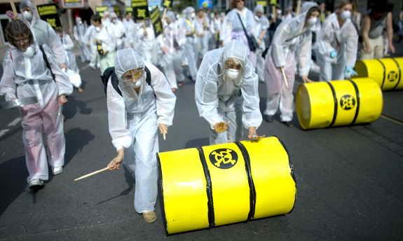 В Берлине прошла демонстрация против атомной энергии