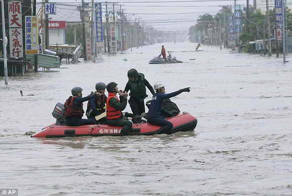 Сильнейшее наводнение в Тайване