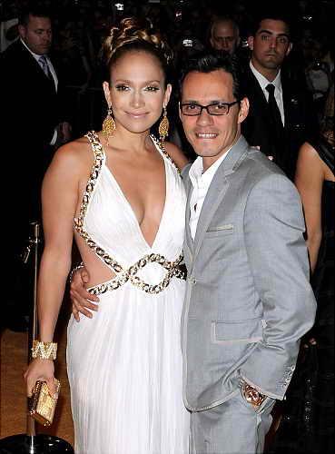 Дженнифер Лопез с мужем Марком Энтони