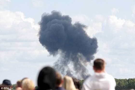 Самолет Су-27 «Русские Витязи» упал в Пушкинском районе Подмосковья