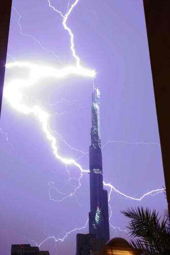 Фото удара молнии