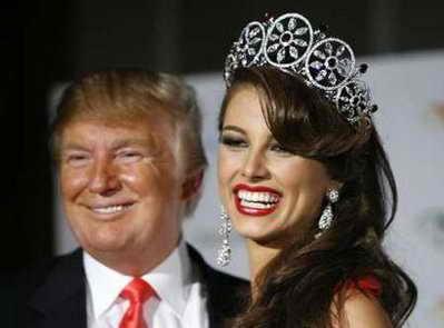 Мисс Вселенная 2009 Стефания Фернандез и Дональд Трамп