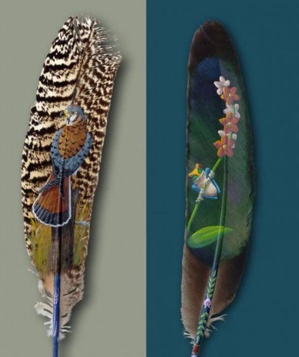 картины на пере