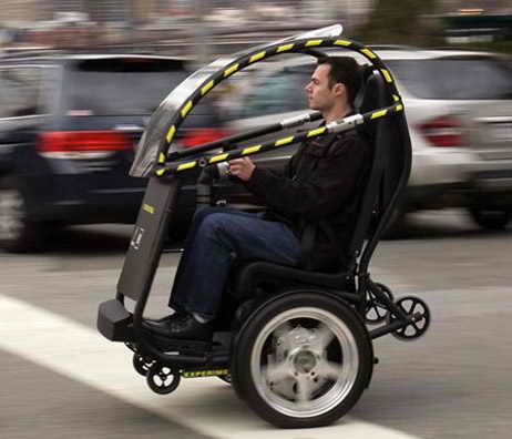 Электроприводный двухместный прототип автомобиля будущего P.U.M.A.