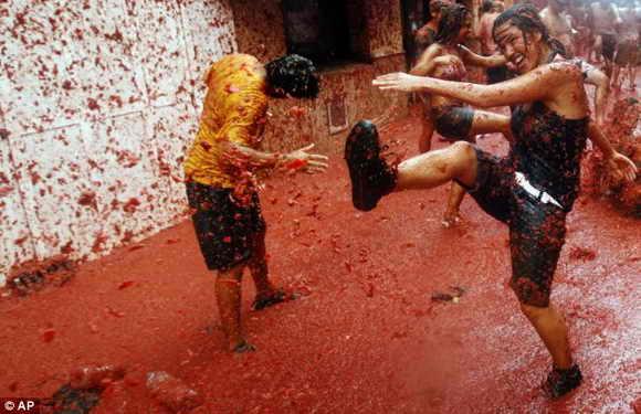 Испанский помидорный фестиваль
