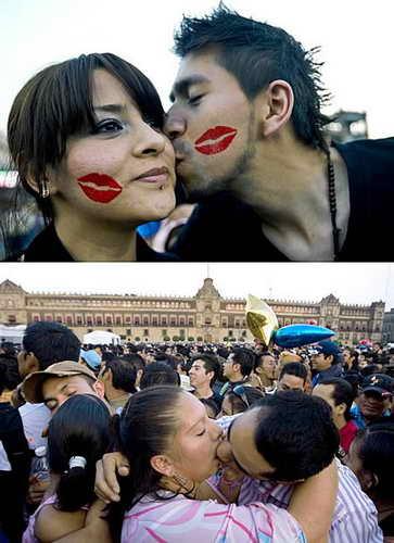Мировой рекорд по коллективному целованию