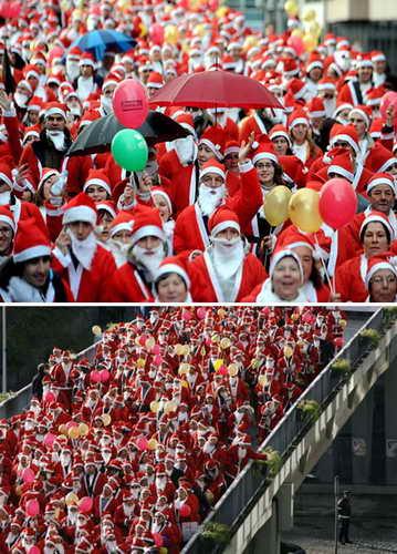 Самое большое собрание Санта Клаусов в мире