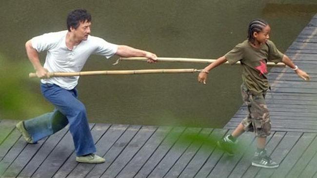Джеки Чан тренирует сына Уилла Смита