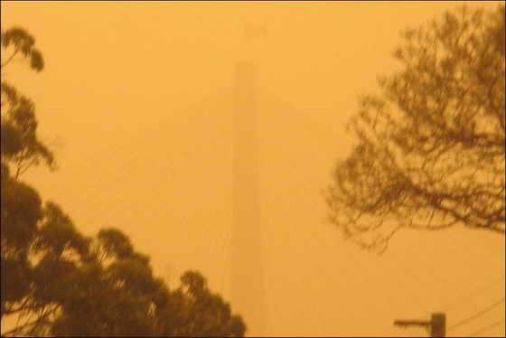 песчаная буря Австралия