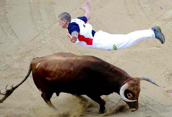 В Барселоне прошел Чемпионат по прыжкам через быка