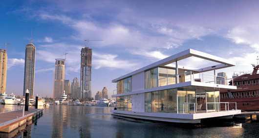 Плавающий дом Dubai