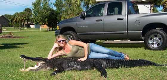 американка Эриэнн Превост - охотница на крокодилов