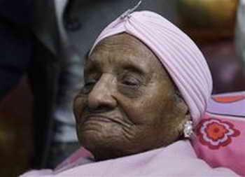 Гертруда Бейнс - самая старая жительница Земли