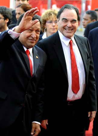 Уго Чавес и прославленный режиссер Оливер Стоун