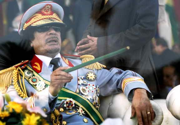 Ливийский лидер Муаммар Каддафи