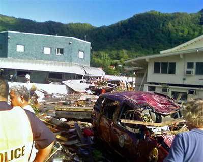 Фото последствий цунами на Самоа