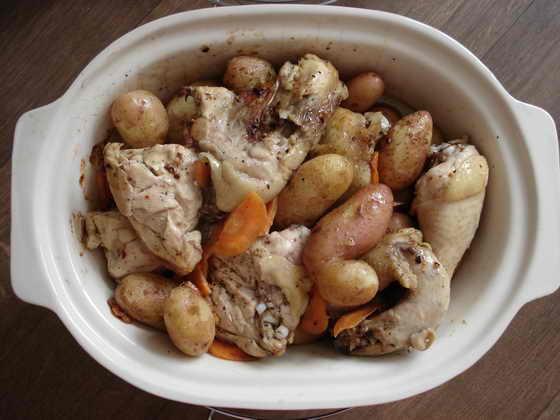 курица на гриле в духовке с овощами рецепт