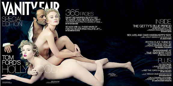 Сексуальные и нагие актрисы Скарлетт Йоханнсон и Кира Найтли на обложке Vanity Fair