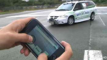 iPhone управляет автомобилем