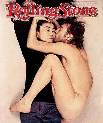 Культовое фото: голый Джон Леннон обнимает Йоко Оно на обложке журнала Rolling Stone, февраль 1970 года