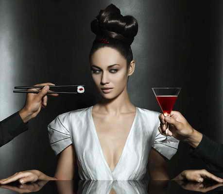 Ольга Куриленко для календаря Campari 2010