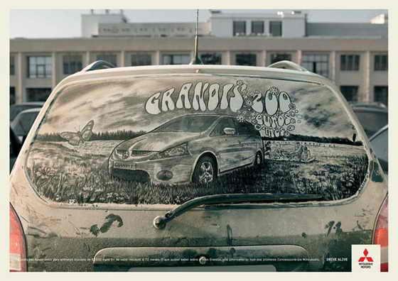 Рисунки на грязном стекле от Scott Wade