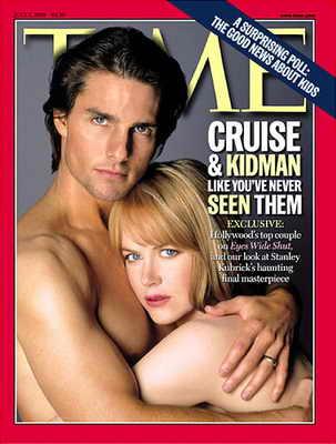 Отношения, ушедшие в небытие: обнаженные Том Круз и Николь Кидман на обложке Time, 5 июля 1999 года