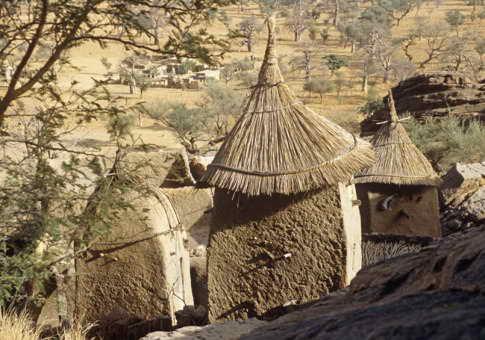 Дома догонов в Мали