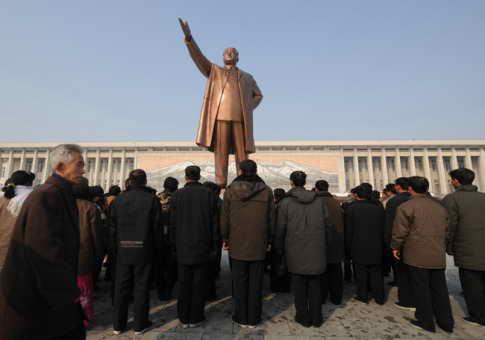 Памятник Мансудэ в Пхеньяне, Северная Корея