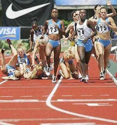 Легкая атлетика - дело такое, кто-то добежал, а кто-то дополз...