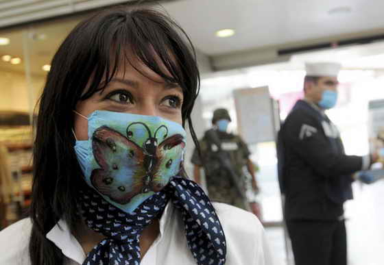 Прикольные маски от свиного гриппа грипп