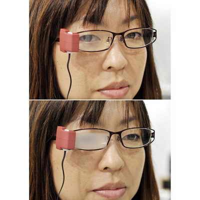 Очки для моргания Masunaga's Wink Glasses разработаны специально, чтобы избежать эффекта сухого глаза, когда человек концентрируется на видео игре или работе в интернете. У очков есть специльный сенсор, определяющий как часто их владелец мигает. Когда человек не закрывает глаза более чем через пять секунд, линзы затуманиваются