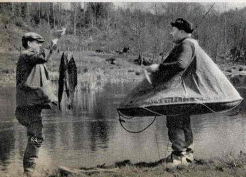 Непонятно зачем придумана портативная лодка, которая одевается как специальный костюм для рыбака ;)