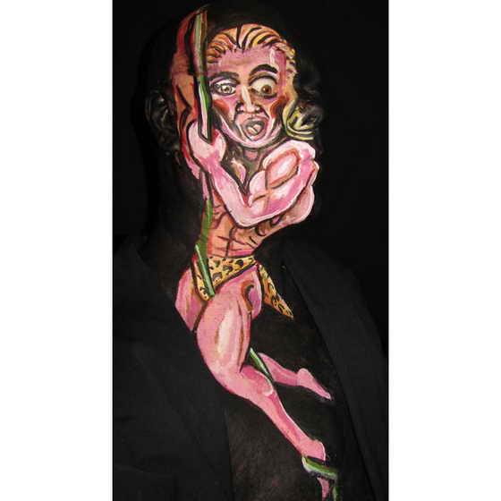 Среди произведений искусства талантливого художника числятся и его мама, Фредди Крюгер, Санта Клаус и даже... Тарзан!